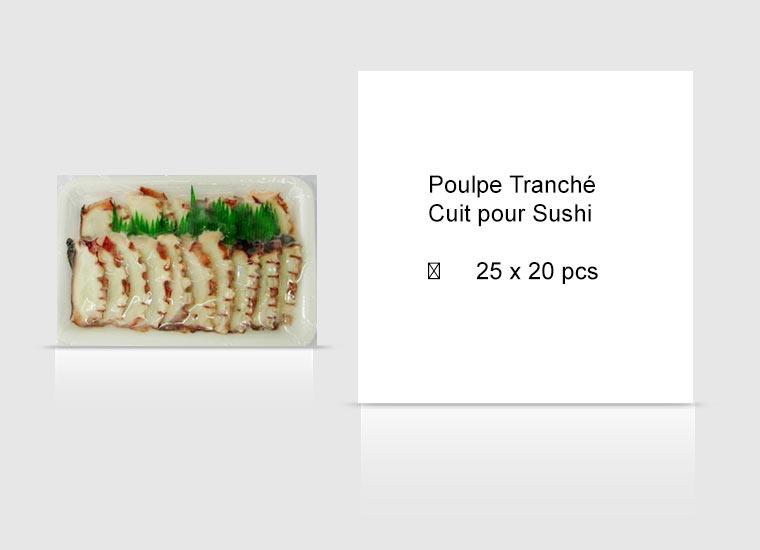 Poulpe Tranché Cuit pour Sushi