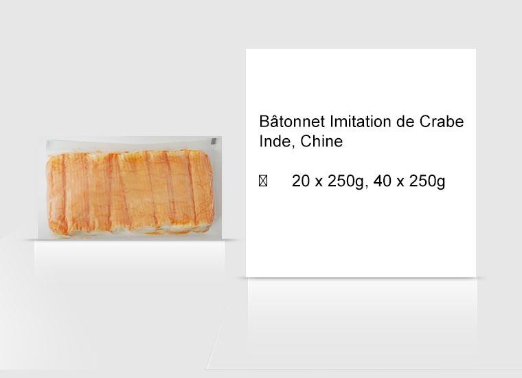 Bâtonnet Imitation de Crabe Inde, Chine