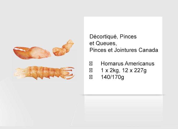 Décortiqué, Pinces et Queues, Pinces et Jointures Canada