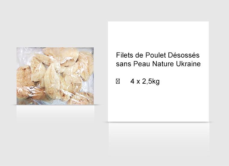 Filets de Poulet Désossés sans Peau Nature Ukraine