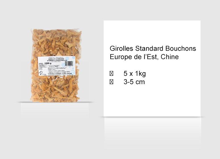 Girolles Standard Bouchons Europe de l'Est, Chine
