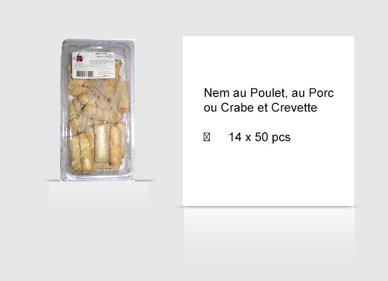 Nem au Poulet, au Porc ou Crabe et Crevette