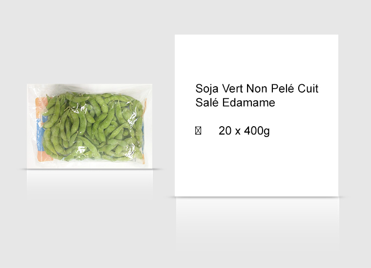 Soja Vert Non Pelé Cuit Salé Edamame