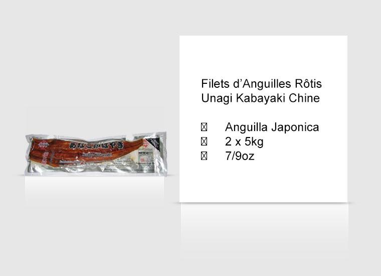 Filets d'Anguilles Rôtis Unagi Kabayaki Chine